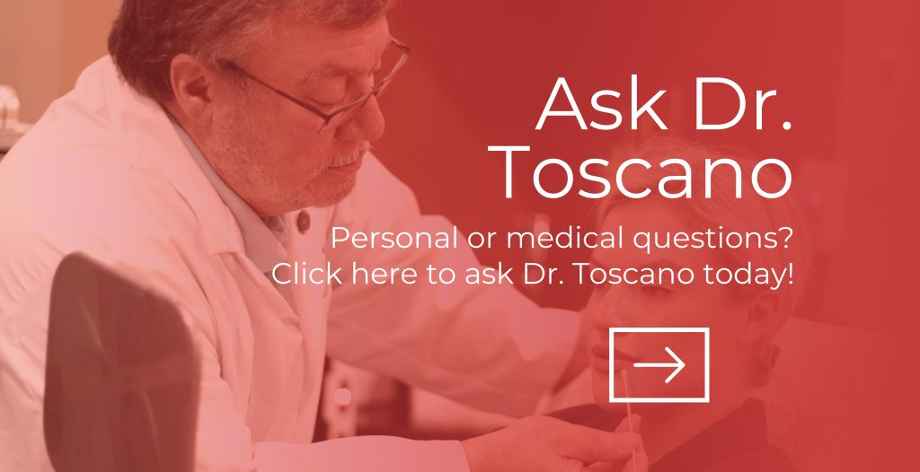 Red bamboo ask Dr. Toscano graphic